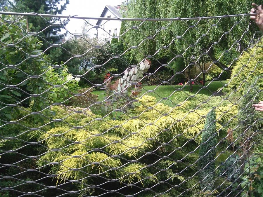 Ogrodzenie w ogrodzie z siatki 3mm