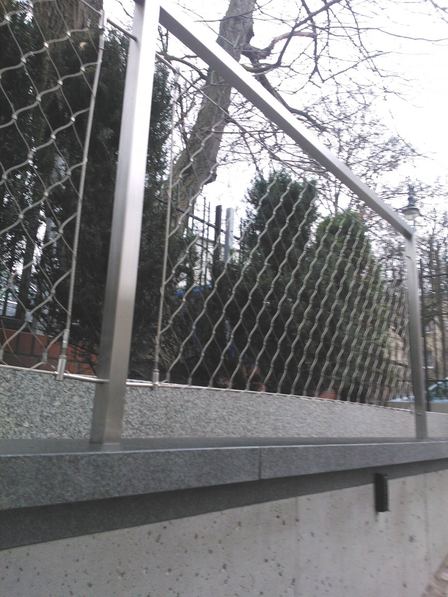 Wypełnienie siatka balustrady na balkonie - System LKW