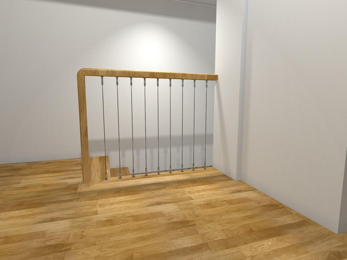 Linki pionowe do balustrady drewnianej